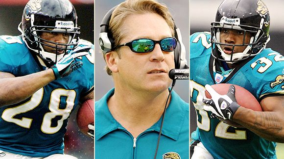 Fred Taylor, Jack Del Rio and Maurice Jones-Drew