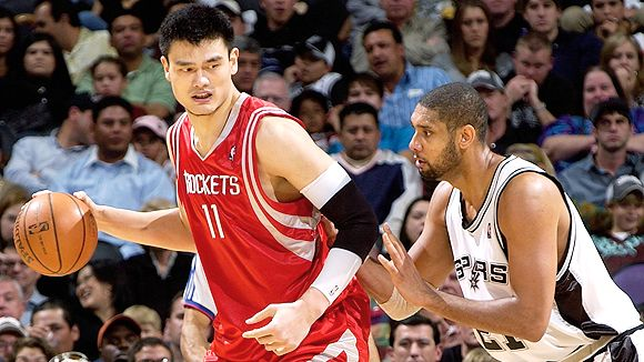 Yao Ming and Tim Duncan