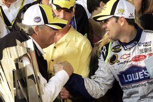 Rick Hendrick and Jimmie Johnson