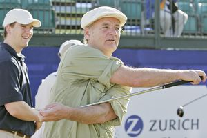 Bill Murray and Eli Manning