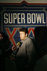 Chris Snee and Super Bowl insignia