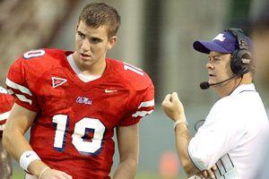 Eli Manning and David Cutcliffe