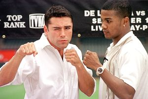 Oscar De La Hoya and Felix Trinidad, Jr