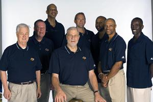 Craig Hodges and the Los Angeles Lakers coaching staff
