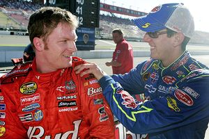 Dale Earnhardt, Jr. and Kyle Busch