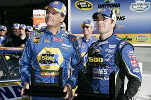 Michael Waltrip and Jimmie Johnson