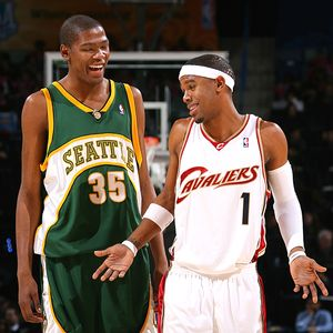 Kevin Durant and Daniel Gibson
