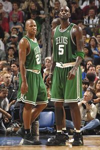 Ray Allen and Kevin Garnett