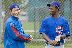 Kosuke Fukudome and Esmailin Caridad