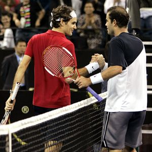 Roger Federer and Pete Sampras