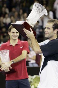 Pete Sampras and Roger Federer
