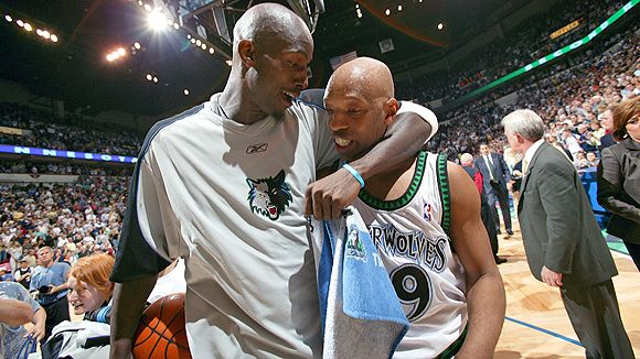 Kevin Garnett and Sam Cassell