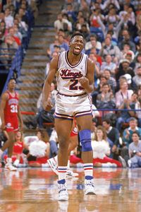 Wayman Tisdale was pumped up as a member of the Sacramento Kings in 1988.