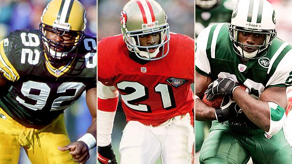 Reggie White, Deion Sanders and Curtis Martin
