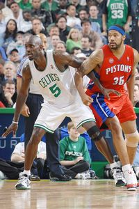 Kevin Garnett and Rasheed Wallace