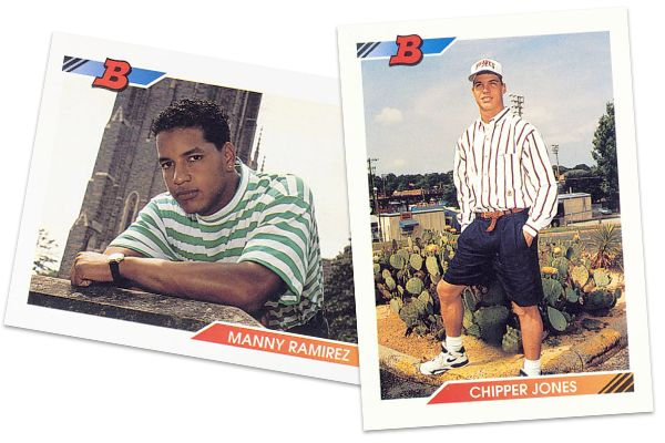 Manny Ramirez and Chipper Jones Rookie Cards