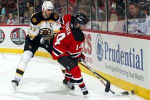 Zdeno Chara and Brian Gionta