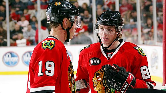 Jonathan Toews and Patrick Kane