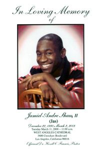 Jamiel Shaw flyer