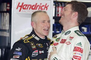Mark Martin and Dale Earnhardt Jr.