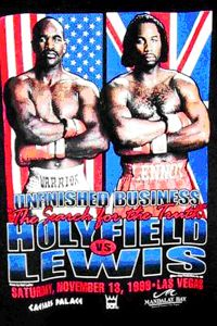 Holyfield vs Lewis Poster