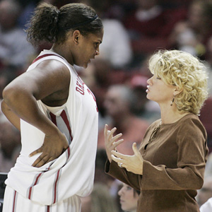 Sherri Coale and Courtney Paris