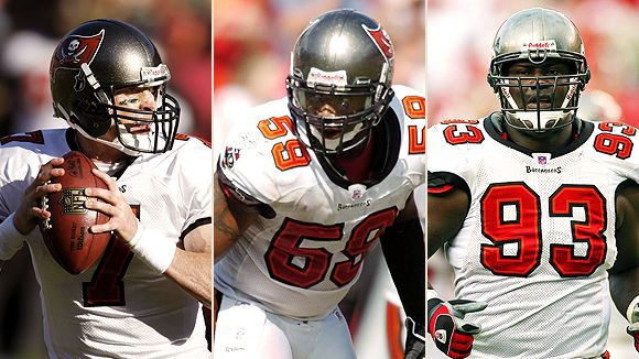 Jeff Garcia, Cato June and Kevin Carter