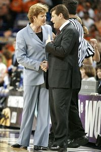 Pat Summitt and Geno Auriemma