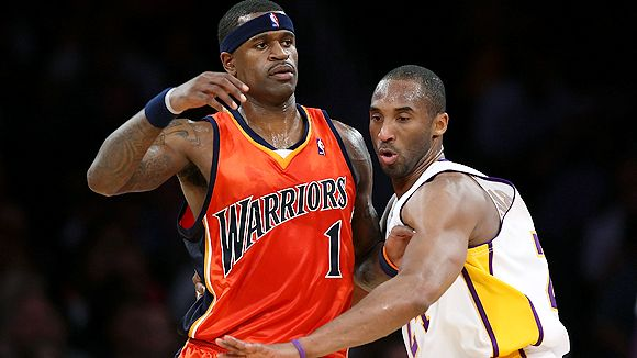 Stephen Jackson and Kobe Bryant