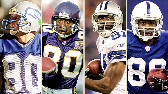 Steve Largent, Cris Carter, Terrell Owens, and Marvin Harrison