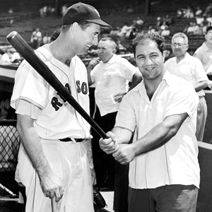 Ted Williams and Rocky Marciano