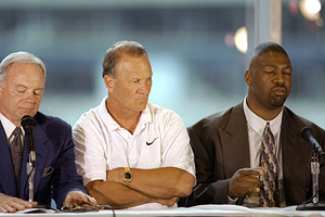 Jerry Jones, Barry Switzer, and Charles Haley