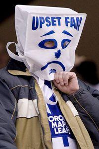 Leafs bag head fan
