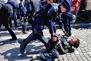 Pro-Tibet demonstrator