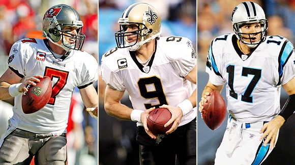 Jeff Garcia, Drew Brees, and Jake Delhomme