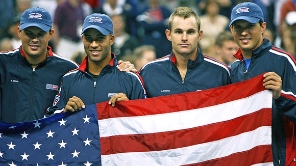 Bob Bryan, James Blake, Andy Roddick and Mike Bryan