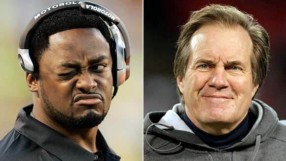 Mike Tomlin and Bill Belichick