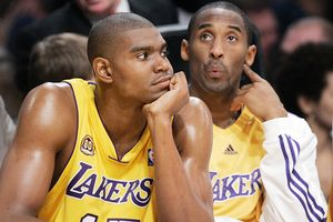 Andrew Bynum and Kobe Bryant