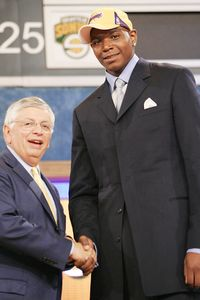 Andrew Bynum and David Stern