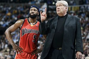 Don Nelson and Baron Davis