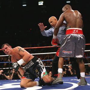 Joe Calzaghe and Bernard Hopkins