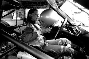 Janet Guthrie -- shown here preparing for the 1976 Firecracker 400 at Daytona -- knows a thing or two about competing at the highest level.