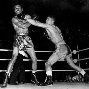Sugar Ray Robinson and Randolph Turpin