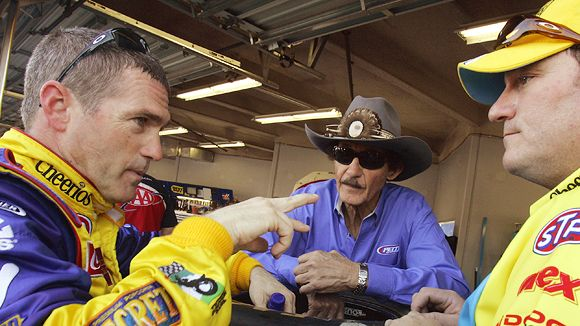 Bobby Labonte, Richard Petty and Todd Parrott