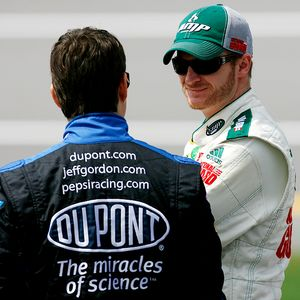 Jeff Gordon and Dale Earnhardt Jr.