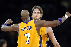 Lamar Odom and Pau Gasol