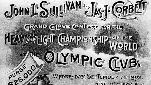 John L. Sulivan fight poster