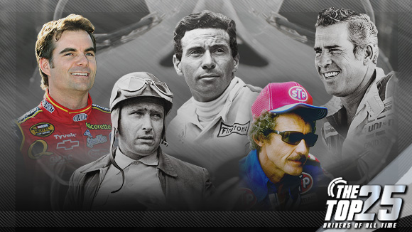 Richard Petty, David Pearson, Jim Clark, Juan Manuel Fangio, Jeff Gordon