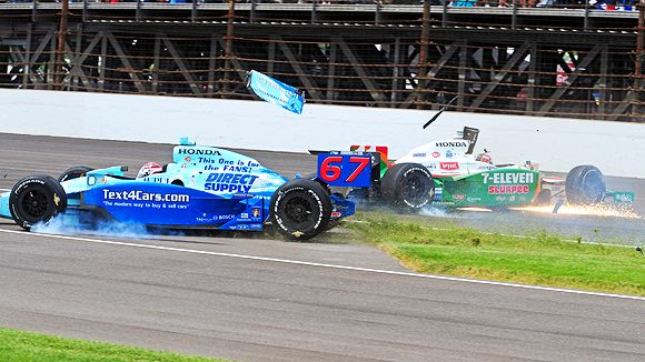 Tony Kanaan and Sarah Fisher