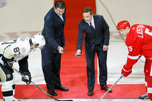 Mario Lemieux and Steve Yzerman